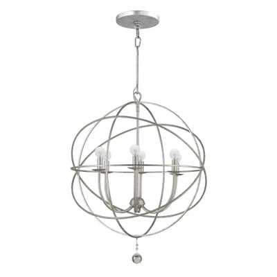Home Decorators Collection Solaris Collection 6-Light Olde Silver Orb Chandelier - Home Depot