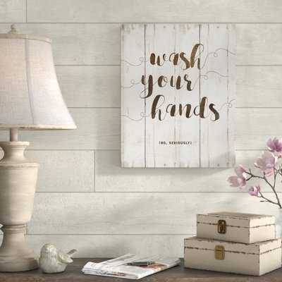 'Wash Hands' Taxtual Art on Wrapped Canvas - Birch Lane