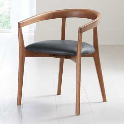 Cullen Dark Stain Oceana Round Back Dining Chair - Crate and Barrel
