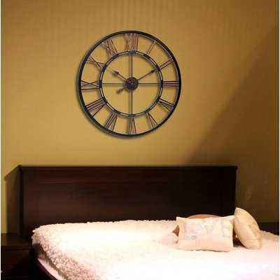 Oversized Terrones Metal Wall Clock - Wayfair