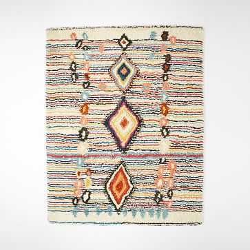 Charm Wool Rug, Multi, 8'x10' - West Elm