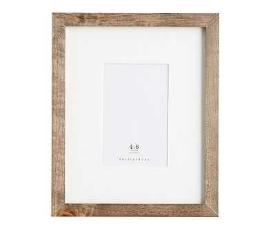 Wood Gallery Single Opening Frame, 4x6 - Gray - Pottery Barn