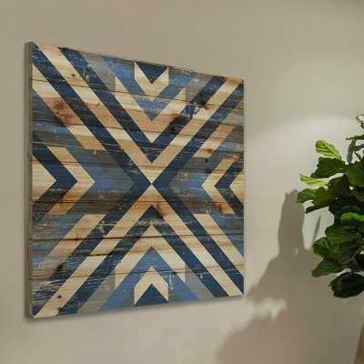 'Converging Blues' Graphic Art Print on Wood - Wayfair