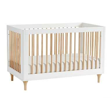 Babyletto Lolly 3-In-1 Convertible Crib, White/Natural, Standard UPS Delivery - Pottery Barn Kids