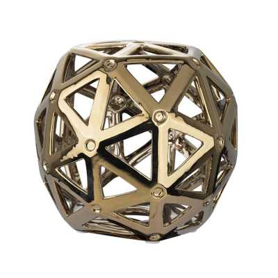 6 in. x 7 in. Gold Plated Perforated Multi-Hexagonal Decorative Orb - Home Depot