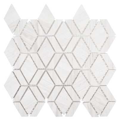 Jeff Lewis Crescent 10-1/4 in. x 11 in. x 8 mm Limestone Mosaic Tile - Home Depot