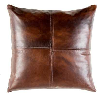 Rico Brown Solid Polyester 20 in. x 20 in. Throw Pillow - Home Depot