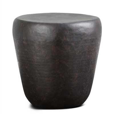 Garvy Rustic Bronze Metal Side Table - Home Depot