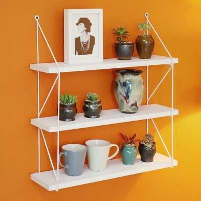 Welland 3-Tier Display Wall Accent Shelf - Wayfair