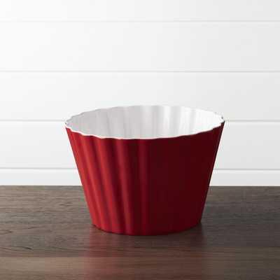 Scalloped Melamine Popcorn Tub - Crate and Barrel