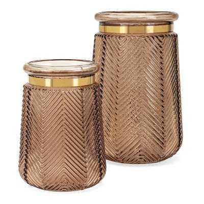 Canyon Glass Table Vase - Wayfair