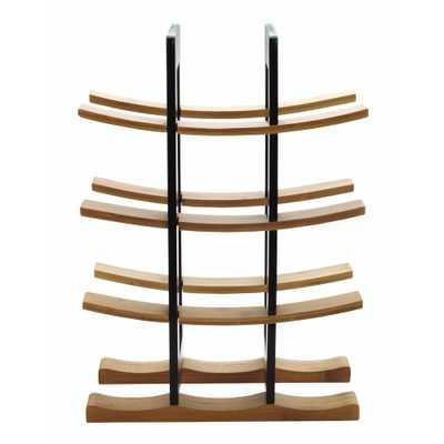 Bamboo Wine Rack with Espresso Accents - Home Depot