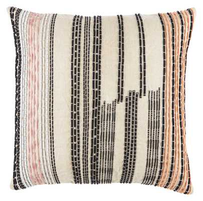 "CNK31 Design (US) Cream 22""X22"" Pillow with Poly Insert - Collective Weavers"