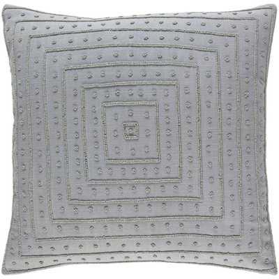Athelstane Poly Euro Pillow, Medium Gray - Home Depot