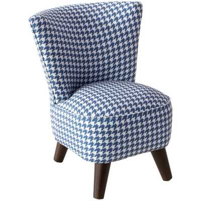 Chunky Houndstooth Navy Kid'S Modern Chair, Chunky Houndstooth Navy Oga - Home Depot