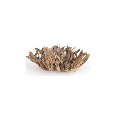 Driftwood Natural Decorative Bowl - Home Depot