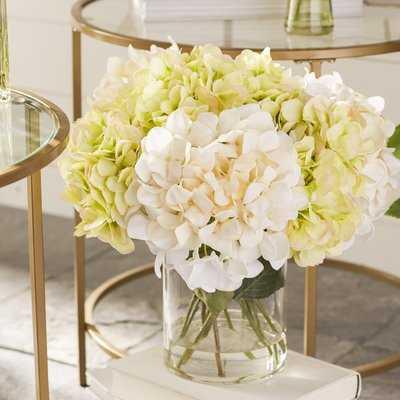 Hydrangea in Acrylic Water Vase - Birch Lane