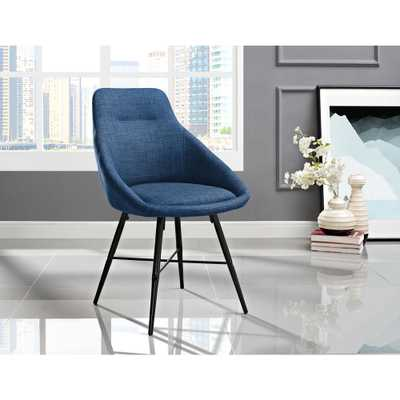 Blue Urban Upholstered Side Chair - Home Depot