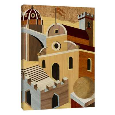12.in x 10.in ''Village Scenery I'' Printed Canvas Wall Art, Multicolored - Home Depot