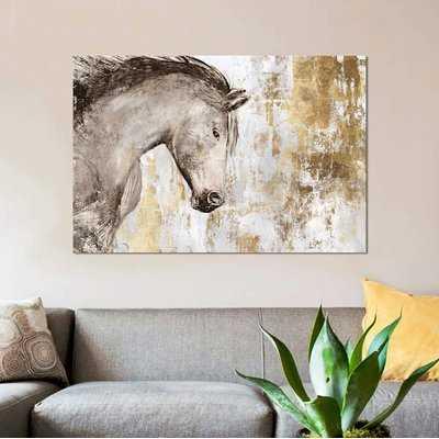 'Equestrian Gold V' Print on Canvas - Wayfair