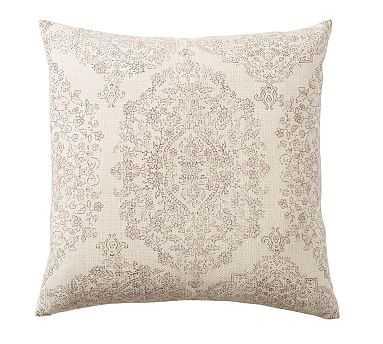 "Jaelin Printed Pillow, 24"", Blush Multi - Pottery Barn"
