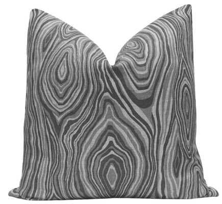 """Agate Linen Print // Graphite - 18"""" X 18"""" - Little Design Company"""