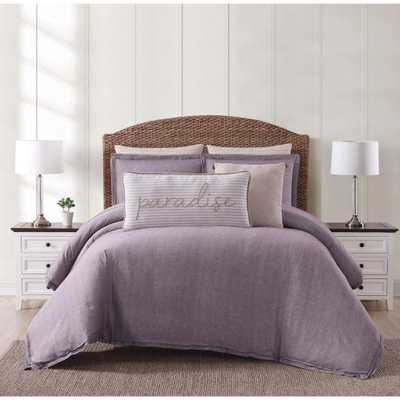 Chambray Coast Plum (Purple) Full/Queen Comforter with 2-Shams - Home Depot