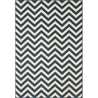 Halliday Navy/White Area Rug - Wayfair