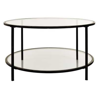 Bella Glass Antique Bronze Coffee Table - Home Depot