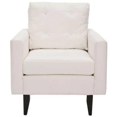 Safavieh Caleb White/Java Cotton Club Arm Chair - Home Depot