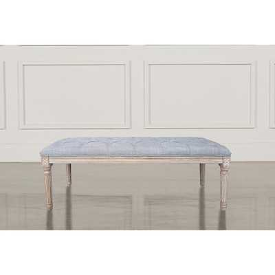 Home Accents Alliance Christie's XL Grey French Bench - Home Depot