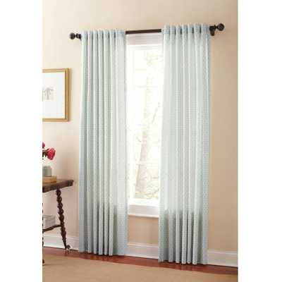Martha Stewart Living Semi-Opaque River Mist Moroccan Geo Back Tab Curtain - Home Depot
