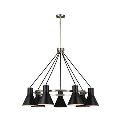Sea Gull Lighting Towner 7-Light Brushed Nickel Chandelier - Home Depot