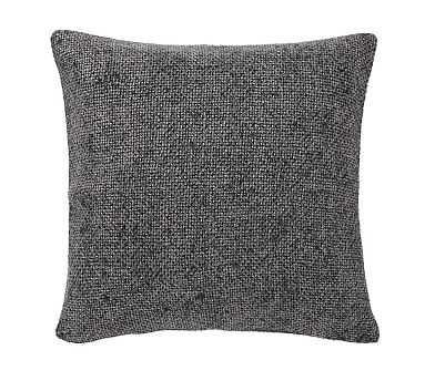 "Faye Textured Linen Pillow Cover, 20"", Light Ebony - Pottery Barn"