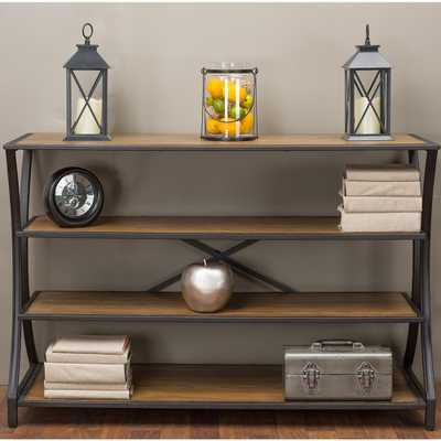 Lancashire Brown Console Table, Medium Brown Wood - Home Depot