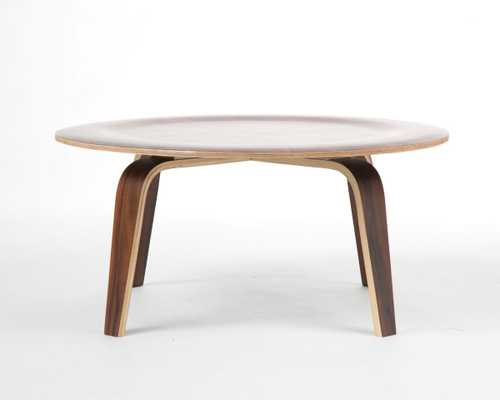 Molded Plywood Coffee Table - Walnut - Rove Concepts