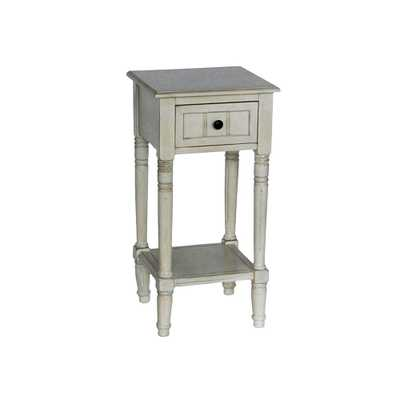 Simplify Antique White 1-Drawer End Table - Home Depot
