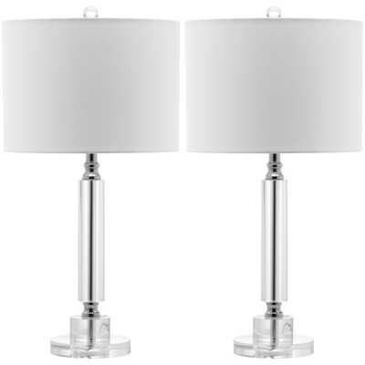 Safavieh Deco 24.5 in. Clear Column Crystal Lamp (Set of 2) - Home Depot