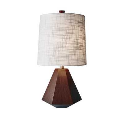 Adesso Grayson 25 in. Walnut Birch Wood Table Lamp - Home Depot
