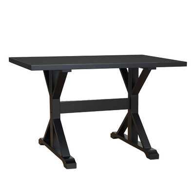 Florence Antique Black Trestle Table - Home Depot