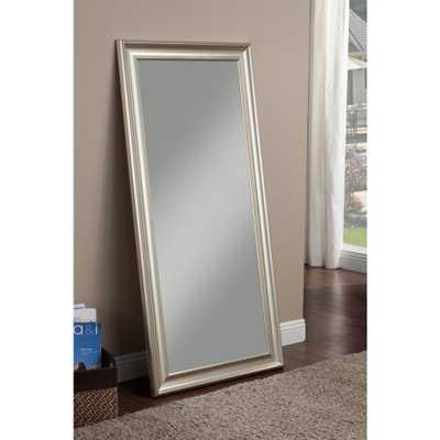 Champagne Silver Full Length Leaner Floor Mirror - Home Depot