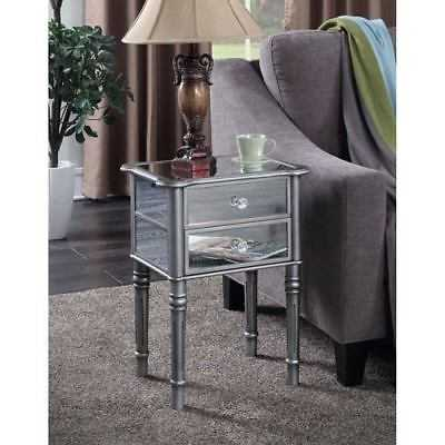 Convenience Concepts Gold Coast Mayfair Silver / Mirror End Table - 413745S - eBay