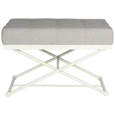 Cara Light Grey Bench, Grey/Ivory - Home Depot