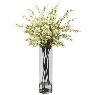 Giant Cherry Blossoms Floral Arrangement in Vase - Birch Lane
