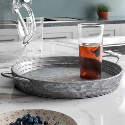 Mertz Galvanized Round Tray - Birch Lane