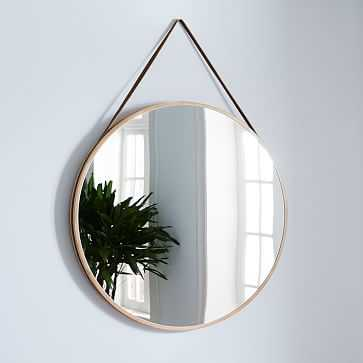 "Modern Hanging Oversized Mirror, Natural/Tan, 36"" - West Elm"