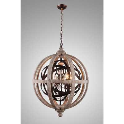 Y Decor Lorenzo Candle-Style 4-Light Rustic Metal Chandelier - Home Depot