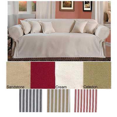 Classic Slipcovers Brushed Twill Sofa Slipcover: Cream - eBay