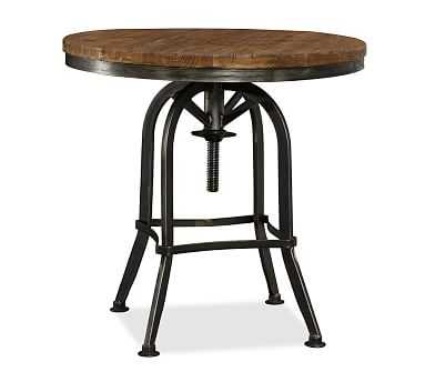 Weldon Adjustable Metal & Wood Side Table - Pottery Barn