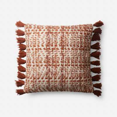 "PILLOWS - ORANGE / NATURAL - 18"" X 18"" Cover Only - Loma Threads"